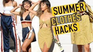 DIY SUMMER BADDIE CLOTHING HACKS ! | DIY | Nava Rose