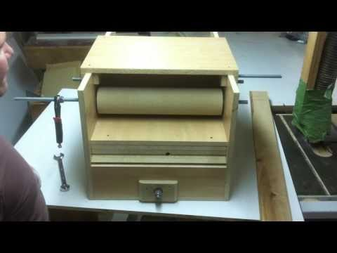 """Cheap!!! """"HomeMade Drum Sander"""" With feeder. Almost done! 9"""