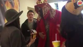 BRB украл чикен фри в Burger King