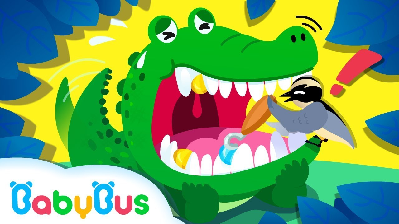 ❤ Wild Animals: Crocodile & The Bird | Learn Animals | Nursery Rhymes | Kids Songs | BabyBus