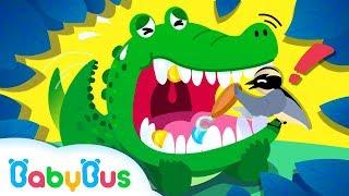 Baixar ❤ Wild Animals: Crocodile & The Bird | Learn Animals | Nursery Rhymes | Kids Songs | BabyBus
