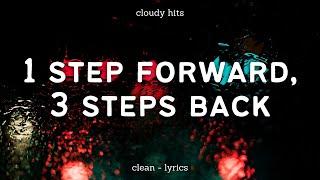 Olivia Rodrigo - 1 step forward, 3 steps back (Clean - Lyrics)