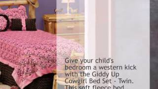 Giddy Up Cowgirl Bed Set - Twin - Lonestarwesterndecor.com