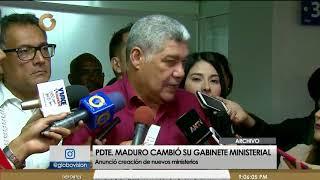 Nicolás Maduro realiza cambios en su gabinete ministerial
