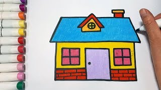 How To Draw A House And Windows || Draw For Kids