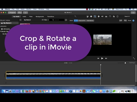 Imovie tutorial how to crop and rotate a clip in imovie youtube imovie tutorial how to crop and rotate a clip in imovie ccuart Images