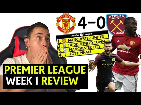 2017/2018 PREMIER LEAGUE WEEK 1 GOALS, HIGHLIGHTS & REVIEW ! MANCHESTER UNITED 4 - 0 WEST HAM