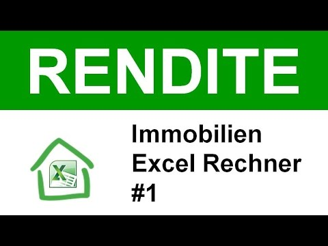 immobilien rendite mit excel berechnen inkl download des fertigen tools 1 youtube. Black Bedroom Furniture Sets. Home Design Ideas