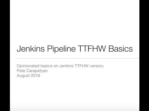 Jenkins Pipeline Video Tutorial