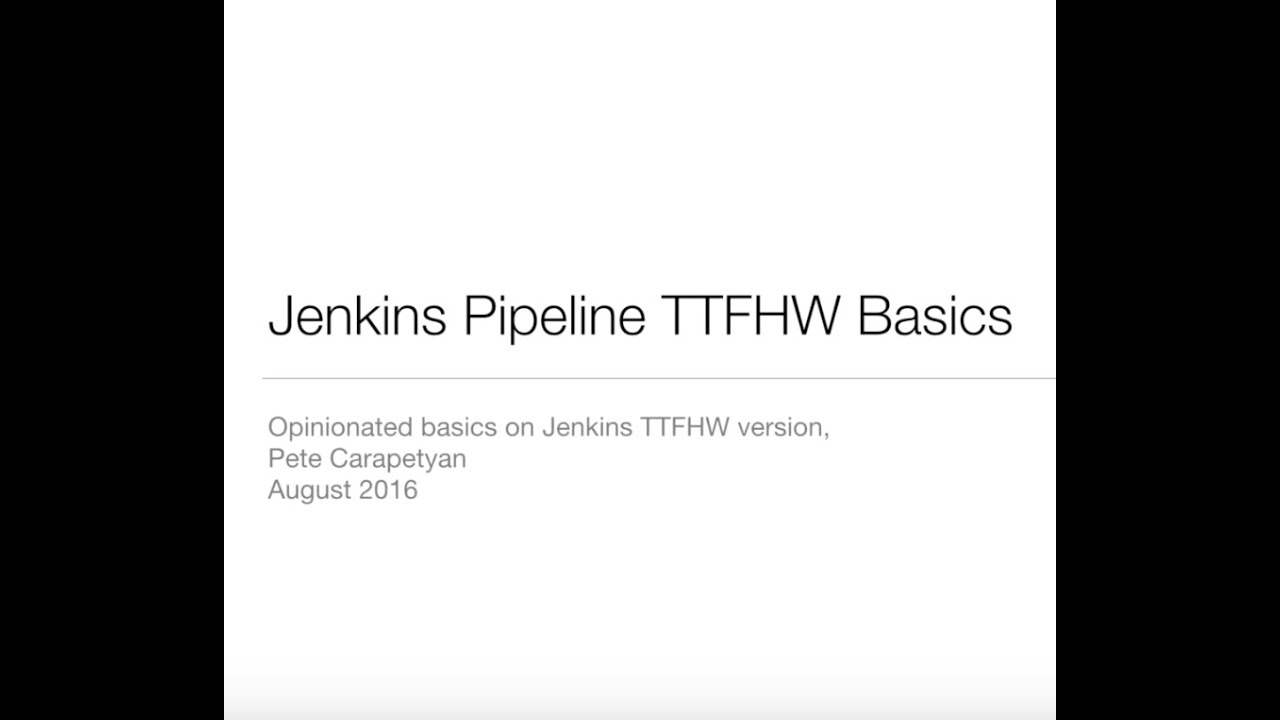Jenkins Pipeline Video Tutorial