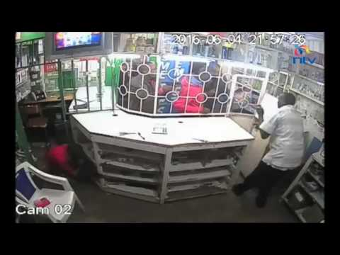 Gangland style armed robbery captured by CCTV cameras