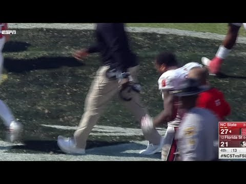 NC State Player Appears to Spit on FSU Logo