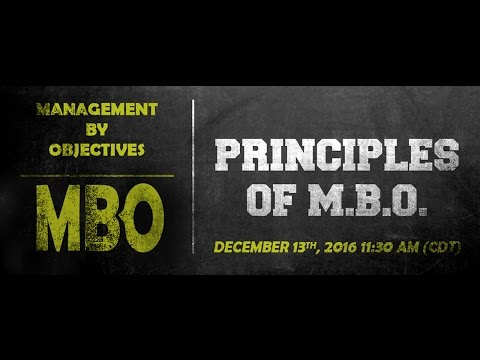 Management By Objectives Webinar