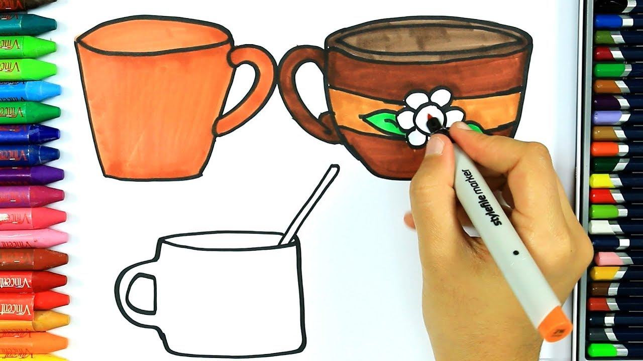 Kupa Nasıl çizilir Boya Boya çizelim Boyayalım çocuklar