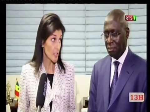 RTS1 - L'ambassadeur des Etats-Unis à l'ONU rencontre son homologue sénégalais