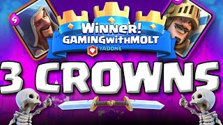 EPIC 3 CROWN VICTORIES  ::  Clash Royale  ::  HIGH LEVEL GAMEPLAY!