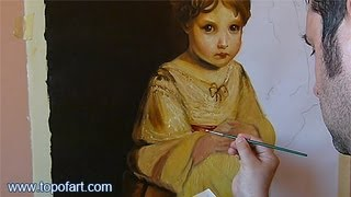 Art Reproduction (Reynolds - The Strawberry Girl) Hand-Painted Step by Step