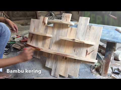 Cara Membuat Sendiri Rak Dinding dari Limbah Kayu