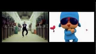 Pocoyo and PSY dance side by side - Gangnam Style