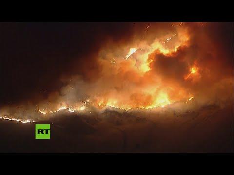 Los incendios forestales queman cientos de hectáreas en California