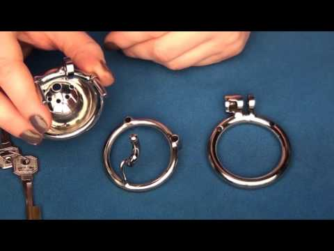 Modular Chastity Device with a S-hook for uncircumcised man
