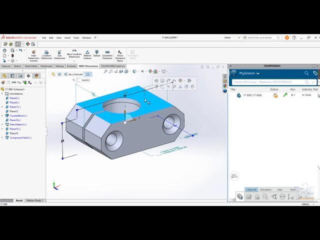 Annotations 3D dans SOLIDWORKS 3DEXPERIENCE - lecture dans eDrawings