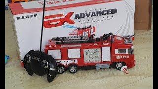 RC Fire Truck Shoot Water Kids Toys Open Box