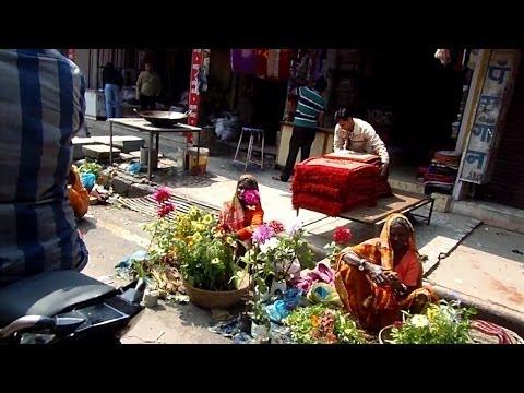 Colorful market in Varanasi, India