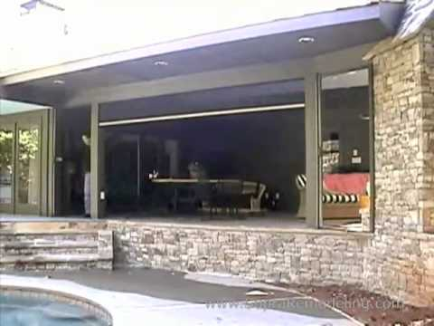 Superieur Clear View Invisible Power Screen   Motorized Patio Screens   YouTube