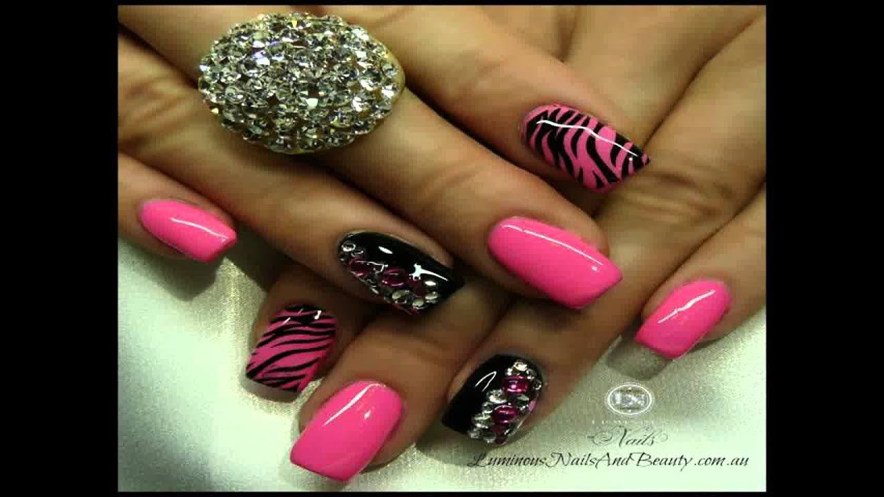 cute acrylic nails best hd gallery - youtube