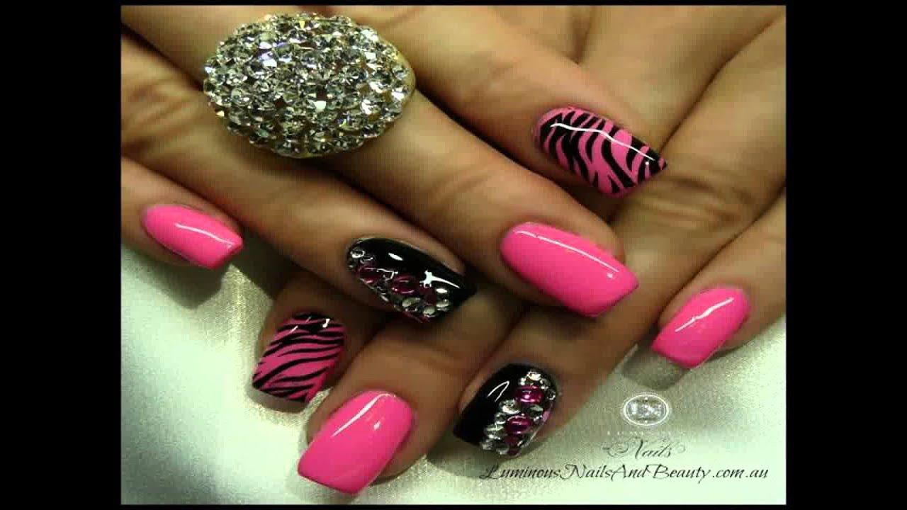 Cute Acrylic Nails Best HD Gallery - YouTube