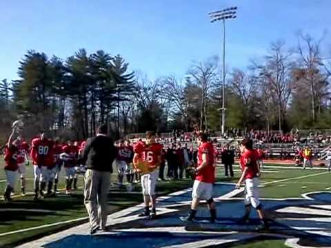 Division III Football Championship Trophy Presented to Mount Greylock High School 2011