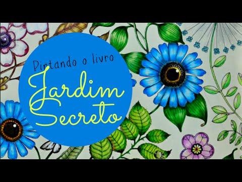 Secret Garden Coloring Book - Jardim Secreto - Flor Azul - Blue Flower