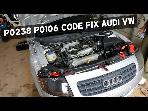 P0238 P0106 CODE TURBOCHARGER BOOST SENSOR A VW AUDI FIX