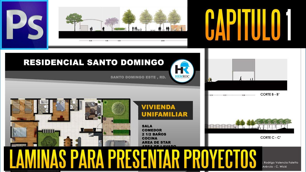 LAMINAS PARA PRESENTAR PROYECTOS ARQUITECTONICOS (PART.1) - YouTube
