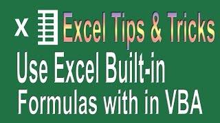How to use Excel formulas in VBA | Excel VBA Programming Tips n Tricks # 2