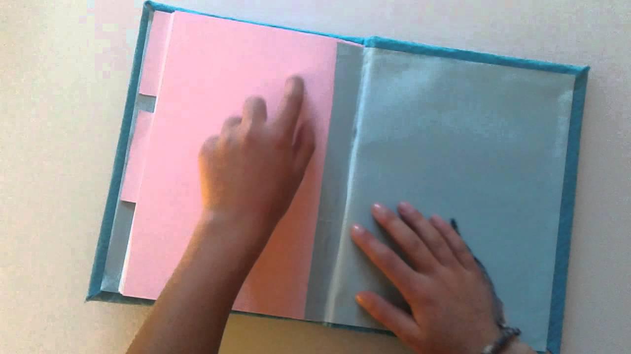 Cuaderno de tapa dura con fieltro y goma eva youtube - Como hacer un libro hueco ...