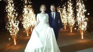 Свадьба в Новгород-Северском. Свадьба в Чернигове. Дорожка из холодных фонтанов на свадьбе