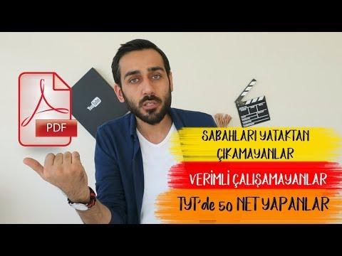 #PK18 Sabahları Yataktan Çıkamayanlar, TYT'de 40-50 Net Yapanlar İzlesin+PDF