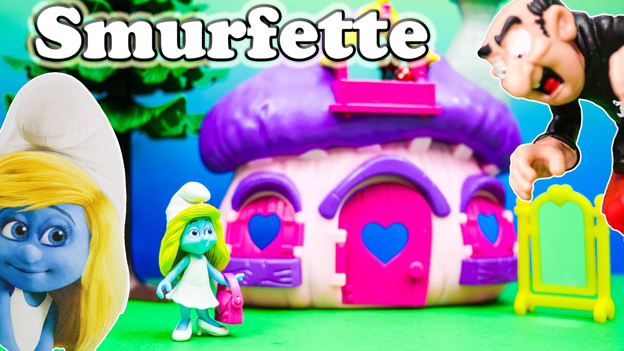 SMURFS Smurfettes House a Schtroumpfs a Toy Video Unboxing - YouTube
