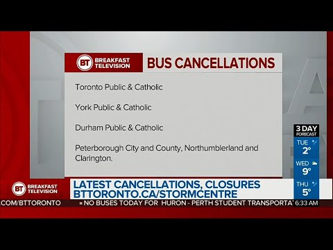 Icy conditions lead to school bus cancellations across the GTA