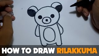 How to Draw a Cartoon - Rilakkuma (Tutorial Step by Step)