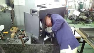 大物の溶接 ~ I welded a big thing .