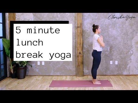 5 Min Lunch Break Yoga Routine | Quick Basic Yoga Flow | ChriskaYoga
