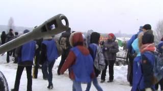 реконструкция  второй мировой войны в деревне ПОРОЖКИ ..