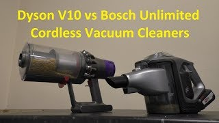 Dyson V10 Absolute v Bosch Unlimited Cordless Vacuum Cleaner