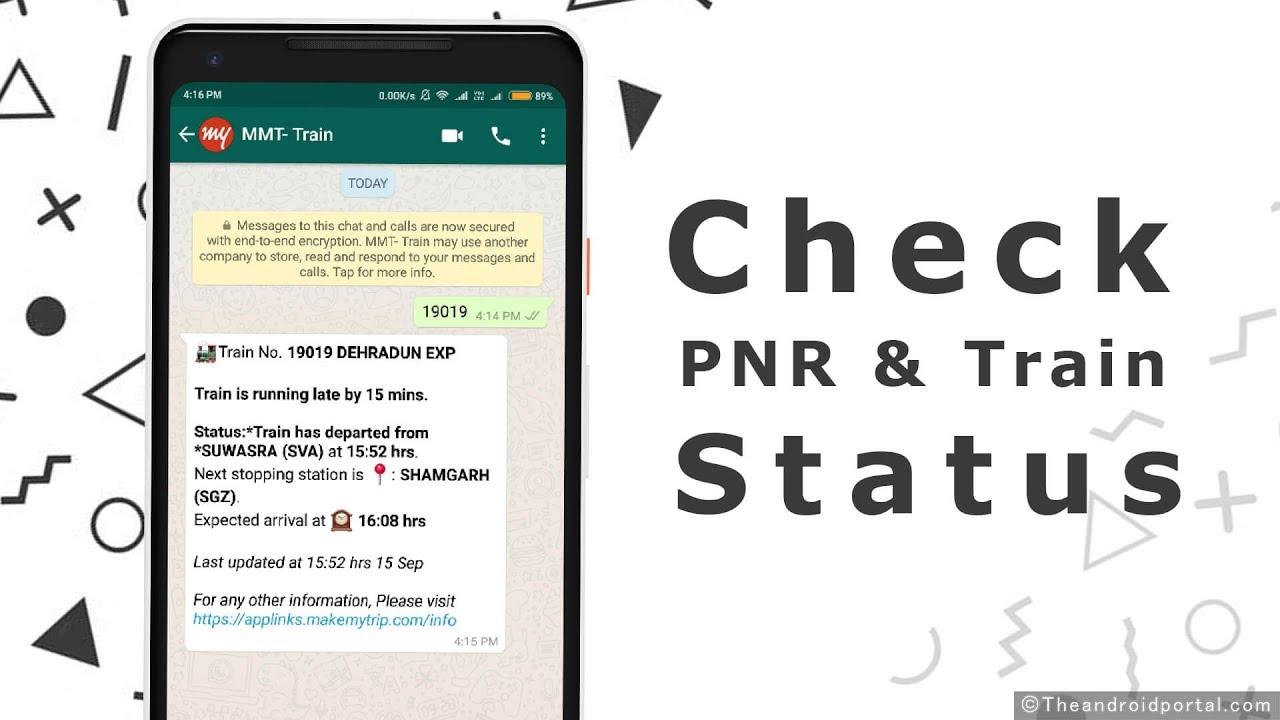 How To Check PNR or Live Train Status via WhatsApp [Hindi]