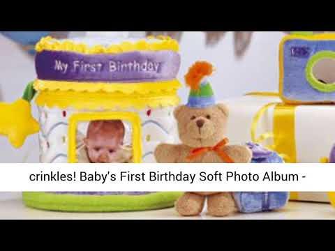 Cake /& Photo Album Baby Gund My First Birthday Gift Set
