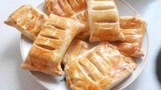 Как приготовить слойки с ветчиной и сыром