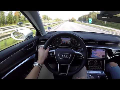 2019 New Audi A6 Quattro 60 FPS POV drive test drive acceleration